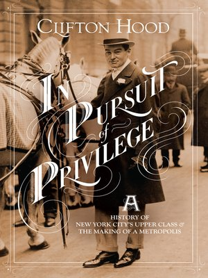 cover image of In Pursuit of Privilege
