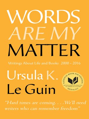 cover image of Words Are My Matter