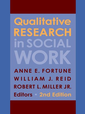 cover image of Qualitative Research in Social Work