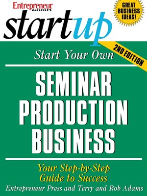 cover image of Start Your Own Seminar Production Business