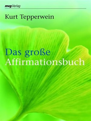 cover image of Das große Affirmationsbuch