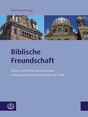 cover image of Biblische Freundschaft