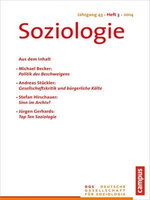 cover image of Soziologie 3.2014