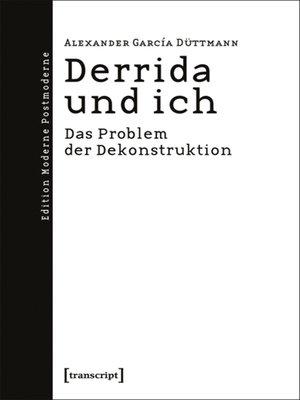 cover image of Derrida und ich