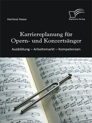 cover image of Karriereplanung für Opern- und Konzertsänger