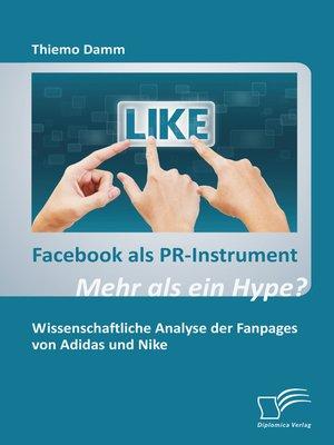 cover image of Facebook als PR-Instrument