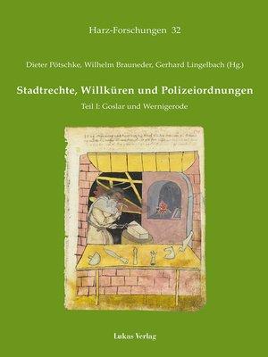 cover image of Stadtrechte, Willküren und Polizeiordnungen