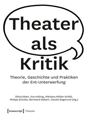 cover image of Theater als Kritik