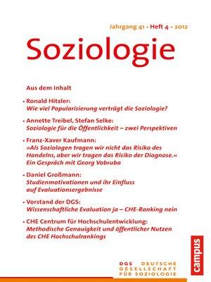 cover image of Soziologie 4.2012