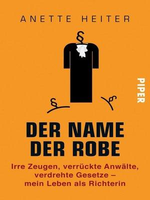 cover image of Der Name der Robe