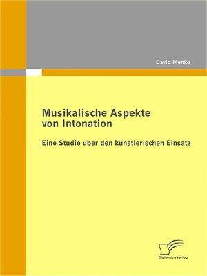 cover image of Musikalische Aspekte von Intonation