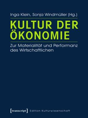 cover image of Kultur der Ökonomie