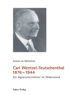 cover image of Carl Wentzel-Teutschenthal 1876-1944