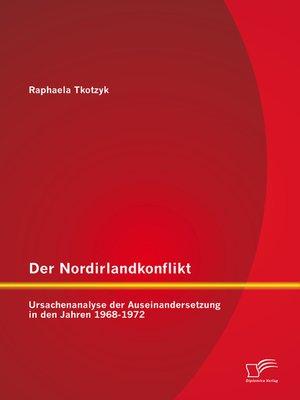 cover image of Der Nordirlandkonflikt