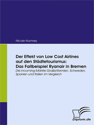 cover image of Der Effekt von Low Cost Airlines auf den Städtetourismus