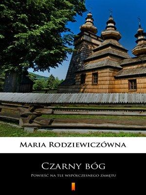 cover image of Czarny bóg