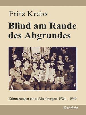 cover image of Blind am Rande des Abgrundes
