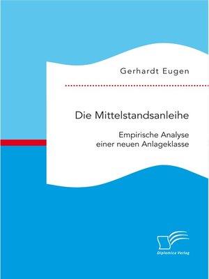 cover image of Die Mittelstandsanleihe