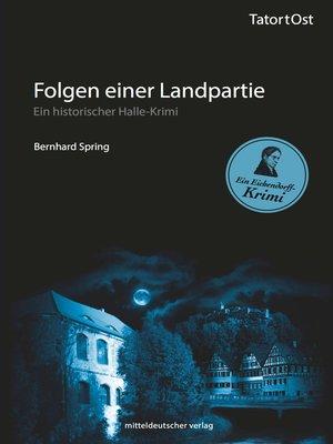 cover image of Folgen einer Landpartie
