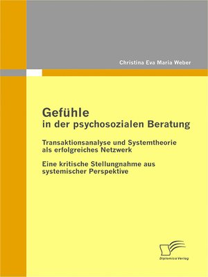cover image of Gefühle in der psychosozialen Beratung
