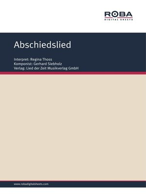 cover image of Abschiedslied