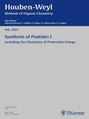 cover image of Houben-Weyl Methods of Organic Chemistry Volume XV/1