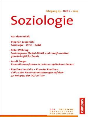 cover image of Soziologie 1.2019