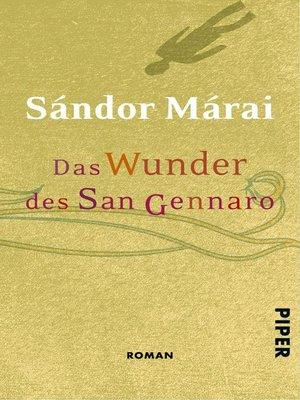 cover image of Das Wunder des San Gennaro