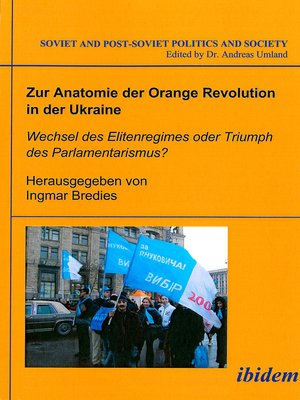 cover image of Zur Anatomie der Orange Revolution in der Ukraine