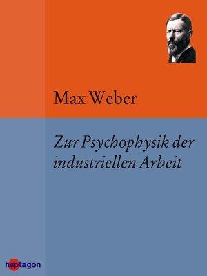 cover image of Zur Psychophysik der industriellen Arbeit
