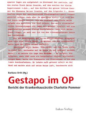 cover image of Gestapo im OP
