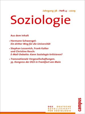 cover image of Soziologie 4.2009