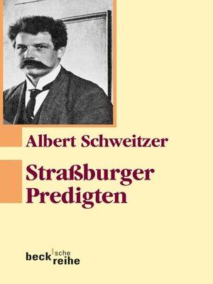 cover image of Straßburger Predigten