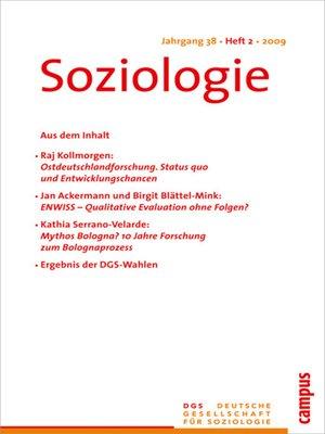 cover image of Soziologie 2.2009