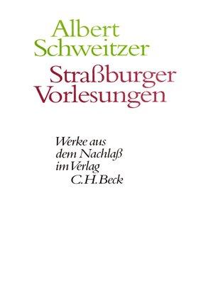 cover image of Straßburger Vorlesungen