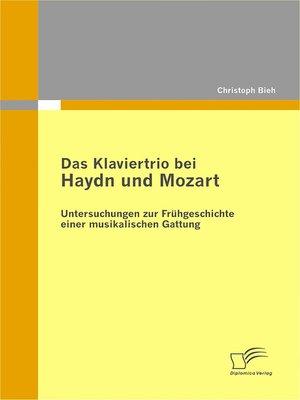 cover image of Das Klaviertrio bei Haydn und Mozart