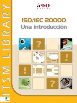 cover image of ISO/IEC 20000 Una Introducción