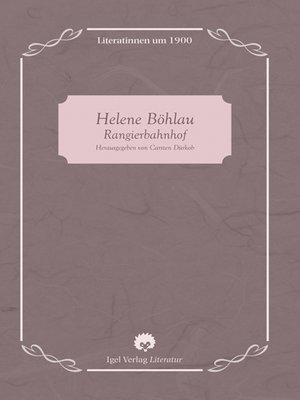 cover image of Helene Böhlau