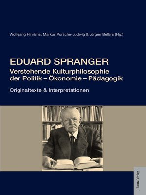 cover image of Eduard Spranger