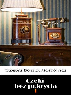 cover image of Czeki bez pokrycia