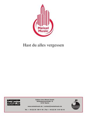 cover image of Hast du alles vergessen
