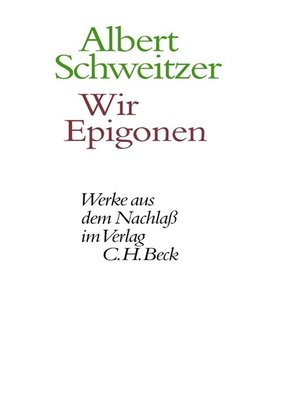 cover image of Wir Epigonen