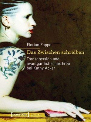 cover image of Das Zwischen schreiben