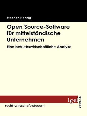 cover image of Open source-Software für mittelständische Unternehmen