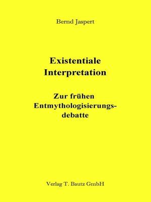 cover image of Existentiale Interpretation