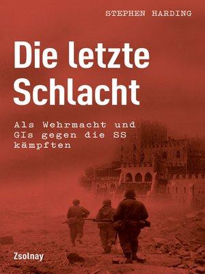 cover image of Die letzte Schlacht