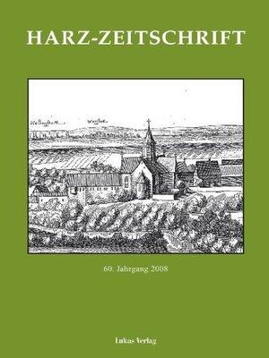 cover image of Harz-Zeitschrift für den Harz-Verein für Geschichte und Altertumskunde
