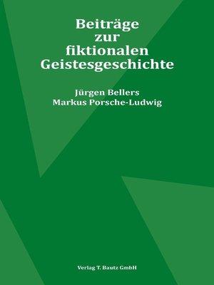 cover image of Beiträge zur fiktionalen Geistesgeschichte