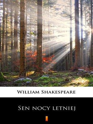 cover image of Sen nocy letniej