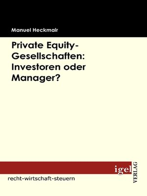 cover image of Private Equity-Gesellschaften